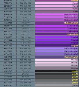 کاملترین جدول رنگ برای استفاده در سایت