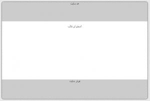 کد قالب ساده html سایت