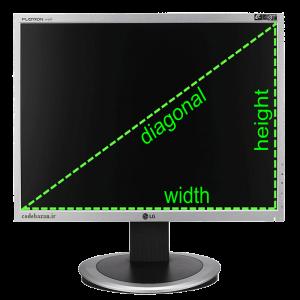 نمایش اندازه دقیق صفحه نمایش