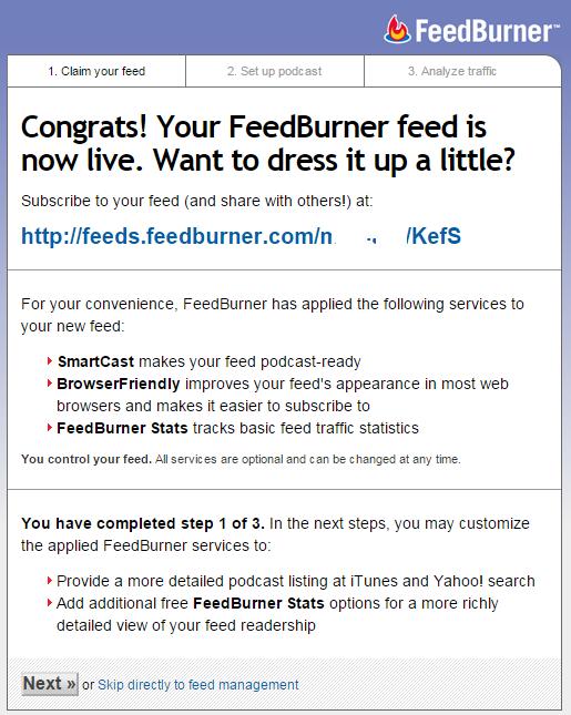 اموزش ایجاد فیدبرنر feedburner