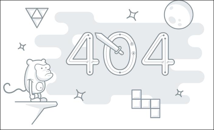 قالب 404 monkey متحرک زیبا
