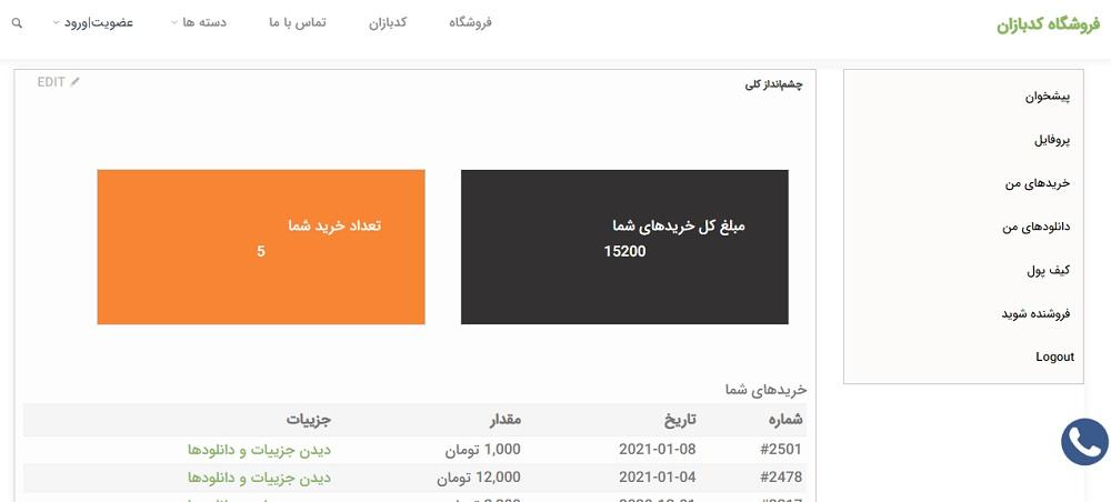 دانلود رایگان افزونه حساب کاربری برای ایزی دیجیتال دانلود EDD Customer Dashboard